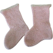 Antique Wool Baby Booties for Your Antique Baby Doll