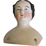 Antique China Doll Head with Pretty Face