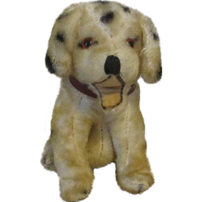 Vintage Dalmatian  Mohair Puppy for Your Antique Doll