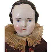Pretty Long Faced Antique China Head Doll