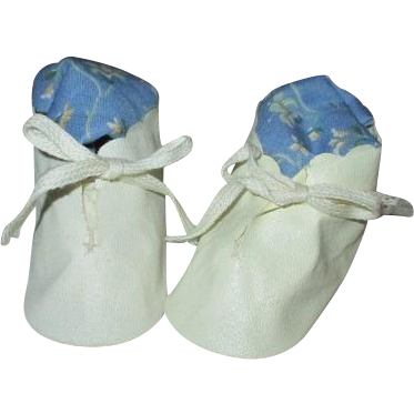 Vintage Oil cloth Doll Shoes - Never Used