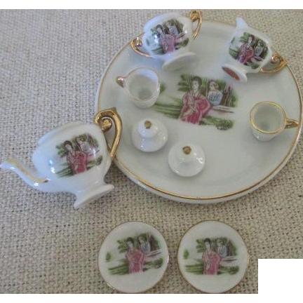 Vintage Miniature Doll's Tea Set