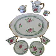 Vintage Rose Motif Doll's Tea Set