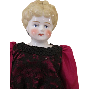 Antique Blond China Doll Head - Sweet Expression - Nice Size