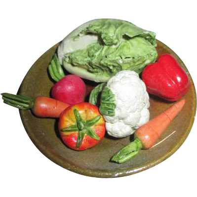 Miniature Doll House Food - Vegetable Tray