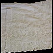 Wide Antique Eyelet Cotton Trim