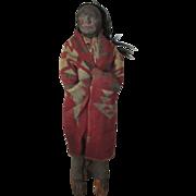 "HOLD FOR PAULA - Huge 21"" Skookum Doll - Dark Features and Human Hair"