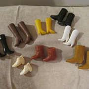Vintage Assortment of  Barbie & Family Boots