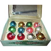 Vintage Glass Miniature Christmas Ornaments