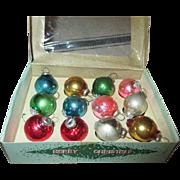 Vintage Glass Miniature Christmas Ornaments