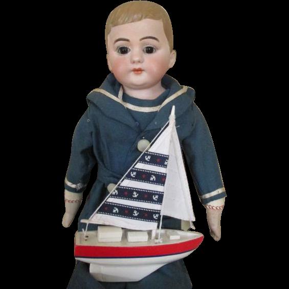 Antique German School Boy Doll