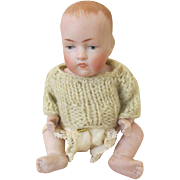Sweet All Bisque Kestner Character Baby ~ Marked '830 2 3/4'