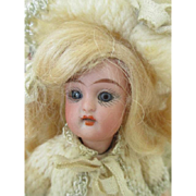 "Rare 6.5"" Kammer & Reinhardt Mignonette Bisque Head Composition Body Doll/All original"