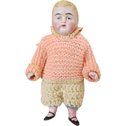 Darling Antique All Bisque Boy Doll