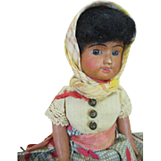 Antique French SFBJ Bisque Head Doll in Original Outfit