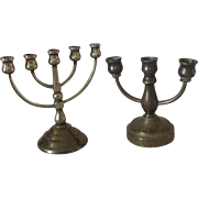 Miniature Brass Candle Sticks for Your Antique Doll