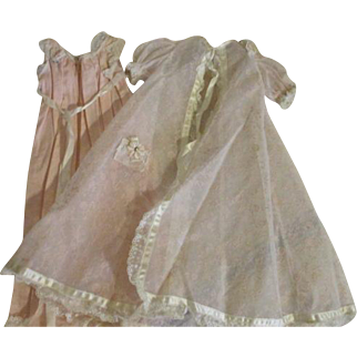 Vintage Cissy Night Gown and Robe Set