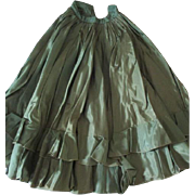Antique Green Silk Skirt for Your Antique Doll
