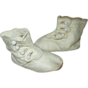 Antique Side Button Leather Baby Shoes for your Antique Doll