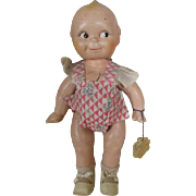 Antique Compo Kewpie with Original Hang Tag and Clothes