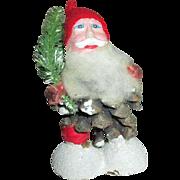 Vintage Pine Cone Santa Doll