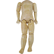Antique Composition Doll Body in Original Paint