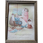 Sweet Doll Print - Little girls with their dolls