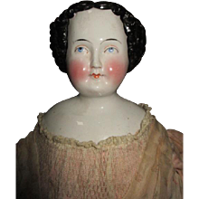 Hold for Roxanne R. Beautiful China Head Doll in Antique Clothing