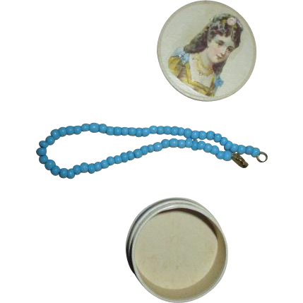 French Fashion Bead Necklace and Decorative Box