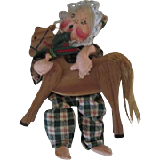 Darling Annalee Cloth Doll with Wooden Horse