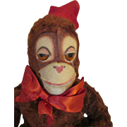 Adorable Vintage Mohair Chimp for Your Doll's Companion