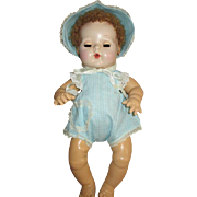 Vintage Factory Made Sun Suit with Matching Bonnet for your Dy Dee Baby