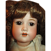 Gorgeous S H CM Bergmann Antique Bisque Head Doll