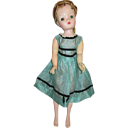 Vintage Teal Dress for Cissy Doll