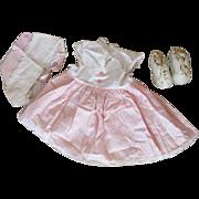 Authentic Tiny Tears Dress, Shoes and Bonnet