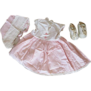 Authentic Tiny Tears Dress, Shoes and Bonnet