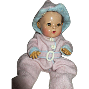 "11"" Effanbee Dy Dee Baby Doll in Eiderdown Snow Suit"