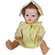 Old Store Stock Yellow Coat and Bonnet for Dy Dee Baby or Tiny Tears Doll