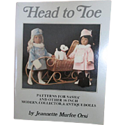 """Head to Toe"" Patterns for Sasha and other 16 inch modern, collector, and antique dolls book"
