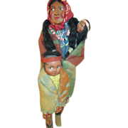 Set of 3 Vintage Skookum Dolls - Mama, Baby & Child
