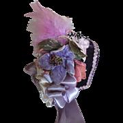 Crushed Velvet Doll Bonnet