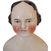 1860's Greiner Style Brown Eyed China Head Doll