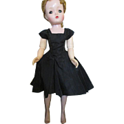 Vintage Black Dress for Cissy with Black Nylons
