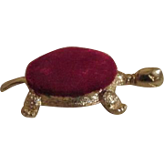 Vintage Metal Turtle Pin Cushion for Your Doll