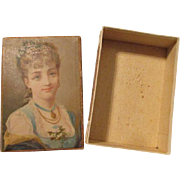 Stunning Antique Chocolate Box for Your Antique Doll