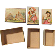 Three Antique Boxes for Your Doll's Accessories