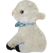 Vintage Miniature Mohair Lamb for Your Doll's Companion