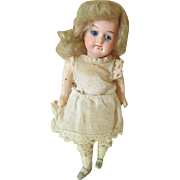 "Tiny 5.5"" Bisque Head Antique Doll"