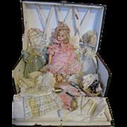 Antique Bebe Tout en Bois Doll in Original Presentation Box - Made for French Market