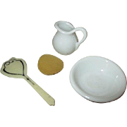 Antique Doll House Bath or Wash Set
